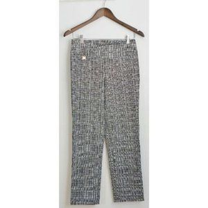 S.C. & CO. Black and white cropped pants